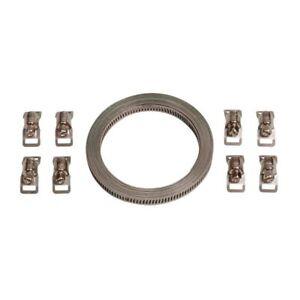 Kit nastro acciaio con 8 morsetti - 300 cm Universale per tubi  filtri  raccordi