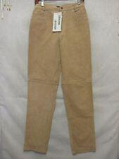 D3997 Chadwick's Brown Leather NWT Pants Women 27x34