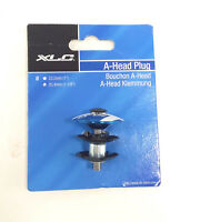 """XLC BICYCLE STEM CAP, STAR NUT AND BOLT, BLUE, 1-1/8"""", 25.4mm"""