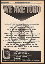 WE ARE TOHO__Original 1983 Trade AD promo / poster__GODZILLA__YOJINBO_ Co. Ltd.