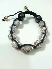 Bling Jewelry Skull Shamballa inspired Bracelet white Crystal 12mm Alloy New