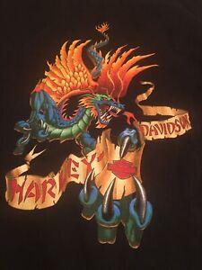 Harley Davidson Dragon Sleeveless T Shirt Large L  2001 Hal's HD Wisconsin