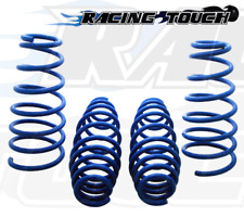 Front & Rear Blue Lowering Springs 4pcs 2011-2012 Ford Fiesta L4 4Cyl