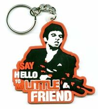 Say Hello To My Little Friend PVC Rubber Keyring