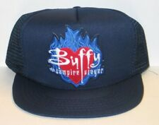 Buffy The Vampire Slayer Flames Logo Patch on a Blue Baseball Cap Hat New