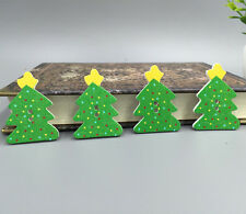 DIY 20X  Christmas tree Pattern Wooden Buttons Fit Sewing and Scrapbook 37mm