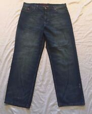 Mens Coogi Straight Leg Relaxed Fit Jeans 42 x 34 Embroidered Denim Blue