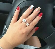 Two Pearl Open Ring