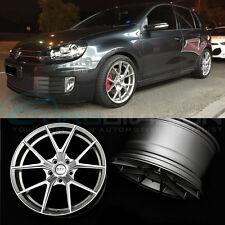 """GTC Wheels AFF-1 Gloss Silver 18"""" VW Golf MK5 / MK6 / MK7 TSI TDI GTI GTD R32 R"""
