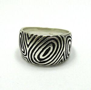 Stilvolle echte Sterling Silber Ring solide punziert 925 handgefertigt