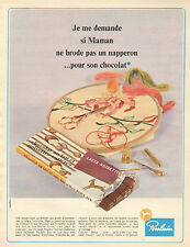 Publicité Advertising 1967  Poulain Chocolat au lait et aux noisettes