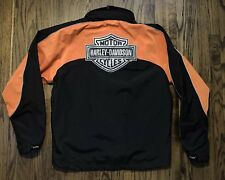 Harley Davidson Mens Nylon Riding Jacket Coat Hidden Hoodie Size Large