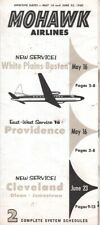 Mohawk Airlines timetable 1960/05/16