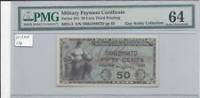 MPC Series 481 50 Cents 3rd  Printing PMG  64  CHOICE UNC  x Guy Araby