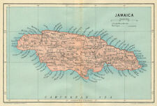 JAMAICA. Vintage map. West Indies. Caribbean 1931 old vintage plan chart
