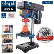 Scheppach Tischbohrmaschine DP16VL mit Laser, 16mm Bohrfutter + Schraubstock NEU
