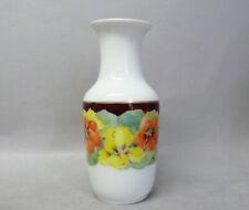 (G7763) Rosenthal Jugendstil Vase, Blumenmalerei , Kriegsmarke 1917, H=14 cm