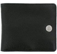 VOLCOM New Mens Leather Bifold Wallet Black BEND