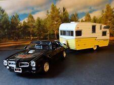1973 Pontiac Firebird Trans AM & Shasta Airflyte Camper 1:24 Scale Diecast Set