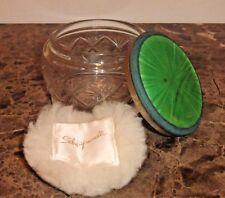 SCHIAPARELLI Vintage Glass Powder Box