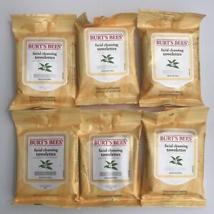 6X Burt's Bees Facial Cleansing Towelettes w/ White Tea Extract Normal Skin 60ct