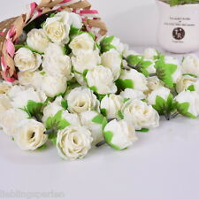 50 Blumenstrauß Kunstblumen Künstliche Blumen Rose Hochzeit Haus Deko Weiß LP