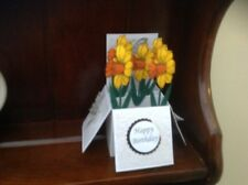 Daffodils flower themed birthday /mothers day /any occasion pop up card