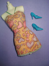 Barbie Fashion Fever Fashionista Style Doll Clothes Lot Pink Sweetheart Dress