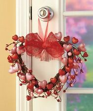 Valentines Day Spring Holiday Heart Wreath Love Cute Sparkle Door Wall Decor New