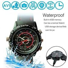 Waterproof 8GB Spy Wrist Watch HP/ DVR Video Hidden Mini Camera Cam Camcorder