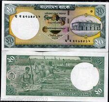 Bangladesh 20 TAKA UNC OLD ISSUE RARE ITEM # 91