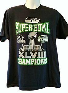 2014 NFL Super Bowl XLVIII Champions Seattle Seahawks T-Shirt