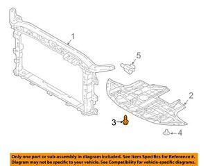 HYUNDAI OEM 17-18 Elantra Radiator Support-Front Shield Bolt 1127406256K