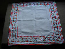 #725 Beautiful Vintage Hand Embroidered Linen Tablecloth 67cm/67cm(26'/26')