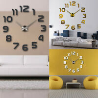 Acrylic Letters DIY Wall Clock 3D Self-adhesive Sticker Frameless Hanging Clock