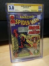 AMAZING SPIDER-MAN #15 1964 SIGNED BY STAN LEE CGC 3.0 1ST APPEARANCE OF KRAVEN!