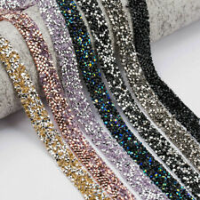 1 Yard Rhinestone Strass Trim Ribbons Tape Sew Iron Appliques Diy Clothes Craft