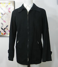 agnes b. Homme Cotton twill black Full ZIp men's jacket coat XL
