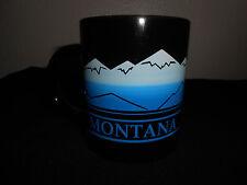 Montana Coffee Tea MUG Black Blue Mountain Full Wrap Scene 1991 NICE! FREE SHIP!