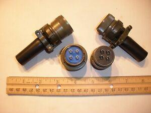 NEW - MS3106A 20-4S (SR) W/B and MS3101A 20-4P (SR) W/B - 4 Pin Mating Pair