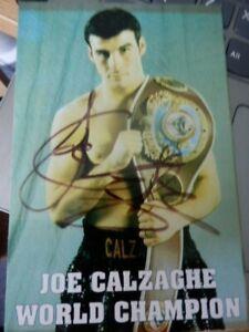 JOE  CALZAGHE  -  BRITISH  BOXER   -  AUTOGRAPHED  PHOTO