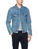 Jack and Jones Mens Classic Vintage Denim Jacket Trucker Style Blue Wash S-XXL