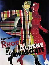 Esposizione RHODIA Fabric ALBENE RINASCENTE Department Store POSTER 1763pylv