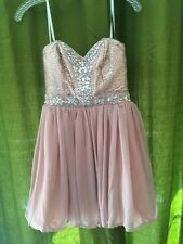 Strapless Short Formal Gown Cocktail Dress Size 7 Dark Dusty Rose (Pale Pink)