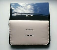 New Chanel VIP Les Beiges cosmetic makeup bag pouch clutch with mirror inside