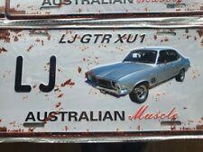 LJ GTR XU1 Torana HOLDEN Number Plate Style 3D Tin Metal Sign NEW Man Cave