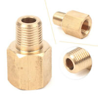 """1/8"""" Female BSPT to 1/8"""" Male NPT Coupling Brass Pipe Fitting Gauge Adapter cl"""