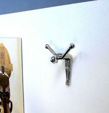 Garderobenhaken Luxus Design Garderobe Silber Kleiderhaken Art Deco Wandhaken