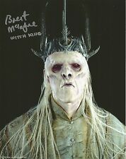Brent Mcintyre as Witch King Lord of the rings hand signed photo UACC AFTAL