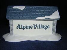 Department 56 Heritage Village Alpine Village Sign New & Never Displayed